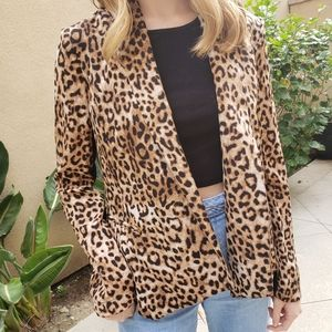 Leopard Black Blazer Jacket M